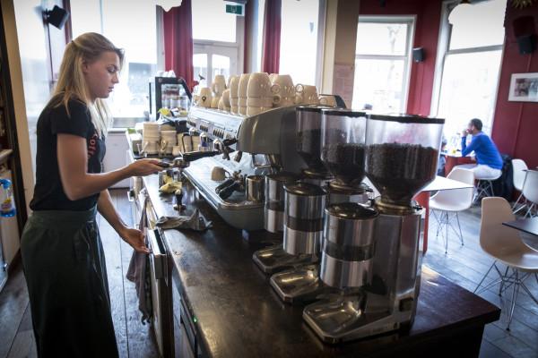 Coffee-break, foto Pepijn van den Broeke