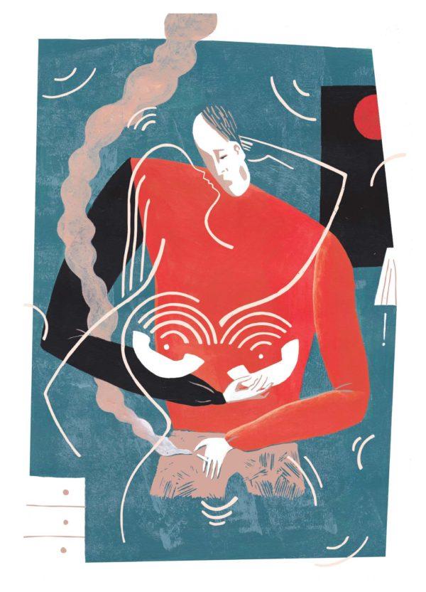 Posterillustratie_Hallo-met-Kyoko-Roos-Vink