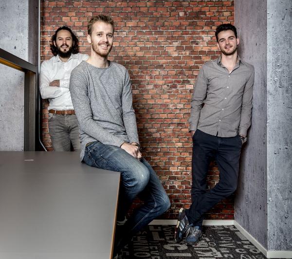 Groningen 20180215. Goodr, vlnr: Arjan Geertsema (CTO), Ewan Scholte (CEO), Bjorn Boes ( Marketing en Sales ) . foto: Pepijn van den Broeke