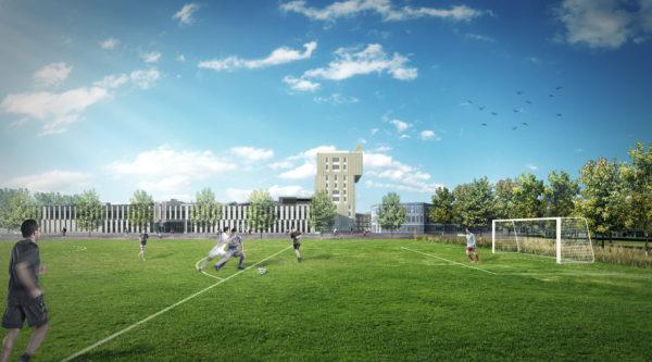 Zernikeplein 7 - JHK Architecten - Zuid gevel